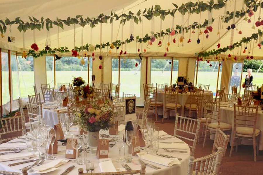 wedding venue sussex marquee looking out