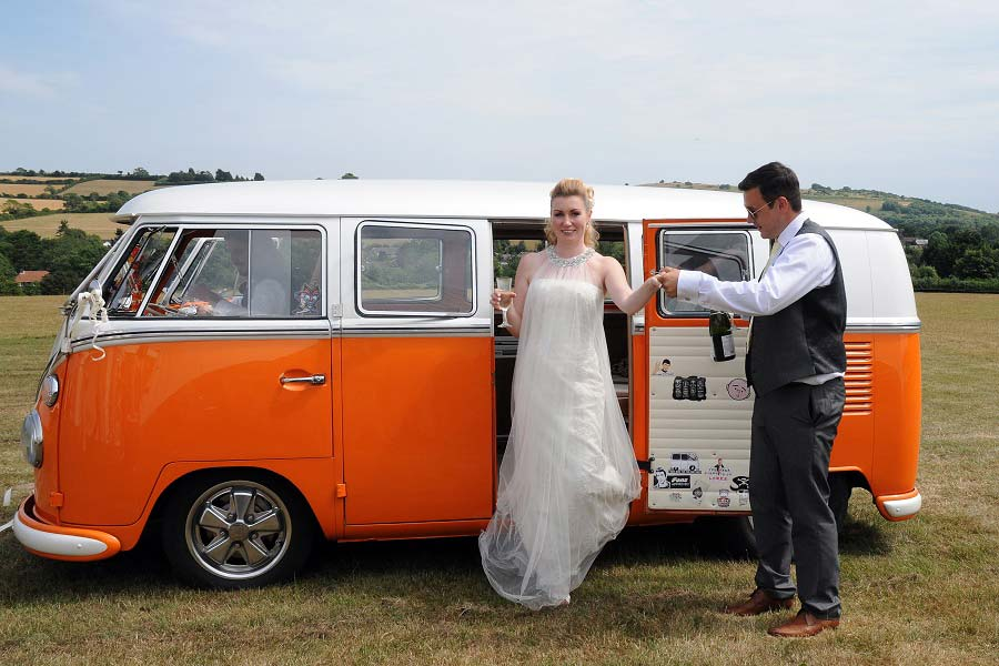 wedding venue sussex field vw camper