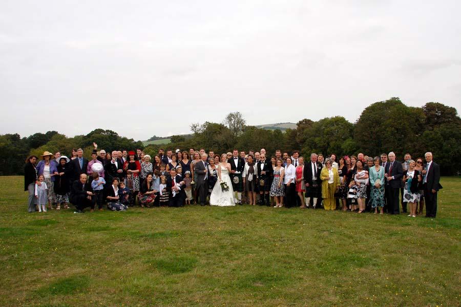 wedding venue sussex field crowd